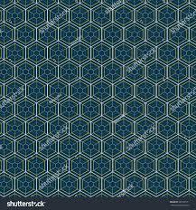repeating geometric hexagonal grid modern texture stock vector