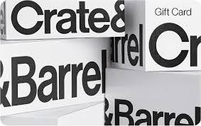 crate and barrel crate barrel gift card