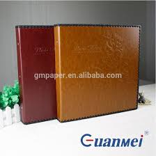 Self Adhesive Leather Guanmei Self Adhesive Leather Photo Album With Post Bound 20