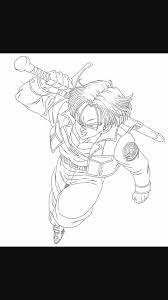 future trunks coloring pages princevegeta hannah god bless