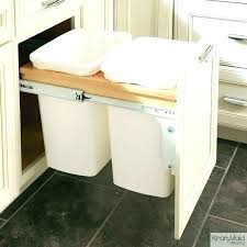 kitchen cabinet garbage can kitchen cabinet trash bins cabinet door trash can trash can