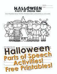 halloween parts of speech activities squarehead teachers