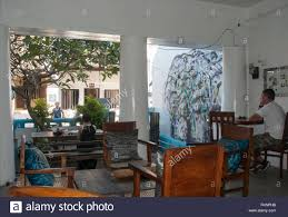inside sri serendipity arts cafe galle fort sri lanka stock