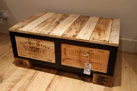 wooden trunk scenic chest barn unpainted reclaimed wood coffee table storage