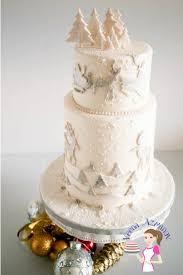 wedding cake tutorial frosted christmas cake tutorial veena azmanov