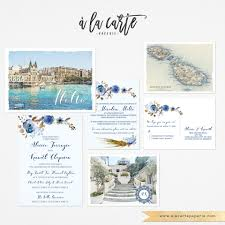 wedding invitations malta malta mediterranean invitation set balluta bay valletta europeen