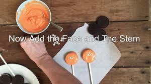 how to make halloween oreo pumpkin pops youtube