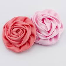 satin roses aliexpress buy 24pcs lot pink satin rolled flowers