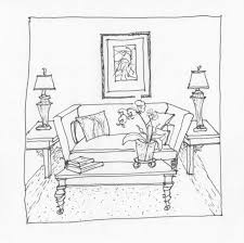 Couch Drawing Sofa Sketch 1 Interior Line Drawings Pinterest Sketches