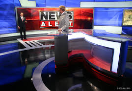 ksaz anchor desk toss to video wall ksaz news set pinterest
