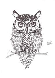 owl drawing nice coloring pages for kids