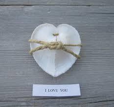 seashell shaped cookies fortune cookie heart seashell i you wedding gift wedding