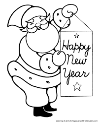 easy pre christmas coloring pages santa happy