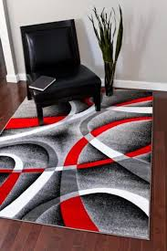 Modern Style Rugs White And Black Rugs Roselawnlutheran