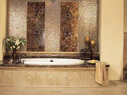 glass tile bathroom designs glass mosaic tile style home