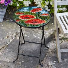 Outdoor Folding Side Table Poppy Glass Folding Side Table From Robert Dyas Robert Dyas