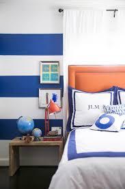 Orange And White Bedroom Blue And Orange Kids Room Transitional Boy U0027s Room Domino