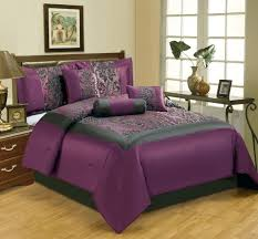 Black And Purple Comforter Sets Queen Bedroom Alluring Dark Purple Comforter Bring Romantic And Comfort