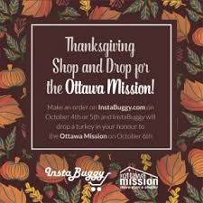 instabuggy to hold turkey shop and drop in benefit of the ottawa