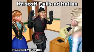 Anna Meme - mmd frozen kristoff speaks italian meme fail elsa and anna youtube