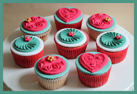 cupcake decorated with a springerle mold forget not