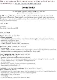 bartender resume exles here are sle of great resume great objectives for resumes