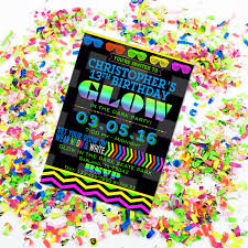 hashtag neon party birthday party invitation birthday neon colored birthday invitations 100 images neon invitations