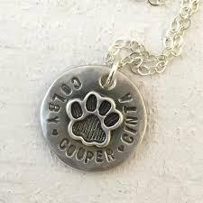 pet memorial necklace pet memorial jewelry dog paw cat paw necklace jewelry praxis jewelry