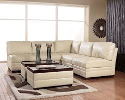 modern living room style with white leather sectional ashley