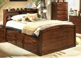 Captain Bed With Storage Bedroom Light Wood Queen Size Captain Bed With Storage Unit And