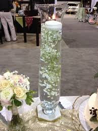 babys breath submerged in water w floating candle on top i u0027d