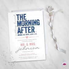day after wedding brunch invitations the morning after wedding brunch invitation digital file