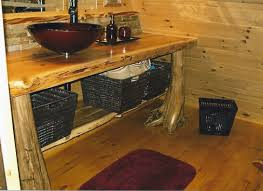 rustic log kitchen u0026 bath