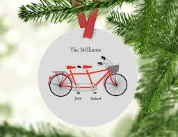 custom family ornament tandem bike ornament custom ornament