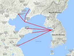 Alaska Ferry Map by How To Take The Ferry From China To Korea 4corners7seas