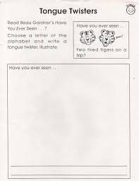 fun writing paper elementary school enrichment activities tongue twister fun the paper needs space at the top for the student illustration instruct that tongue twisters are written in a certain way like poetry is