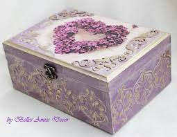 personalized jewelry box tea box personalized jewelry box wedding gift lilac shabby