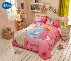 Tangled Bedding Set Pink Disney Princess Printed Comforter Bedding Set For S