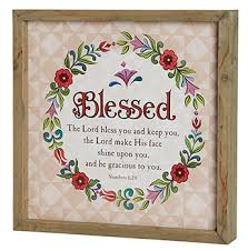 jim shore blessed numbers 6 24 framed print clearance