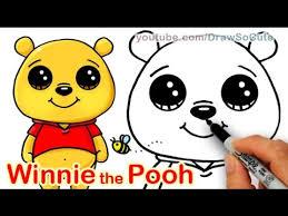 draw disney winnie pooh bear cute easy