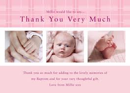 baby thank you cards pink photo baby thank you cards pink tartan thank you cards