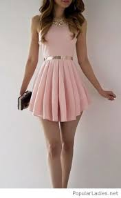 light pink short dress short light pink dress with gold accessories