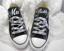 wedding shoes converse custom wedding converse personalized mrs wedding shoes bridal