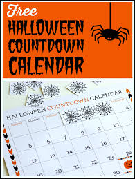 Free Printable Halloween Countdown Calendar Catch My Party