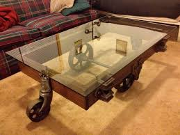Vintage Coffee Table With Wheels Wheeled Antique Coffee Table Buy Custom Cut Glass Direct