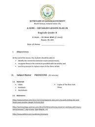 detailed lesson plan in active and passive noun for grade 7
