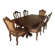 Tuscan Dining Room Tables Ethan Allen Tuscany Dining Set Set Of 7 Chairish