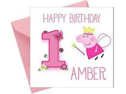 personalised peppa pig 1st birthday card first sister grand