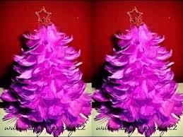 stromeček z peříček christmas tree of feathers diy youtube