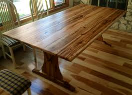 Hickory Dining Room Table by Just Finished My Hickory Harvest Table 4 15 By Bob Lehnig My